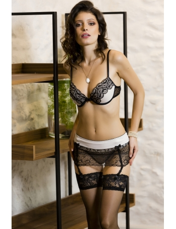 Lace suspender Golden