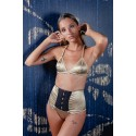 Gold silk high waist panty Show Time